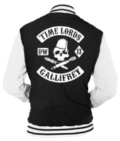 TIME LORDS VARSITY - INSPIRED BY DR.WHO MATT SMITH DAVID TENNANT SONS OF ANARCHY